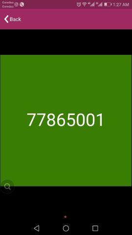 Vodafone fancy number 7 786 5001
