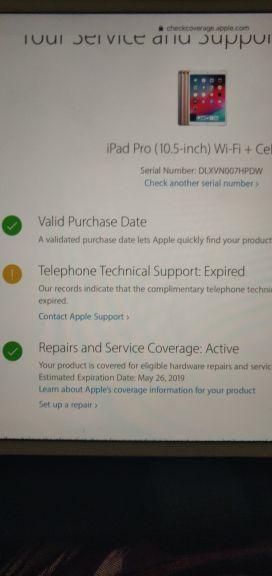 iPadPro 10.5 256gb wifi/celluar
