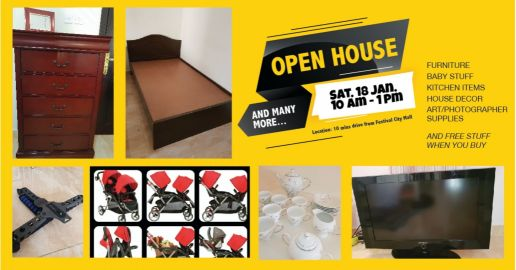Open House. stuff. Sat 19/1 from 10-1 pm