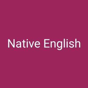 Native English teacher.