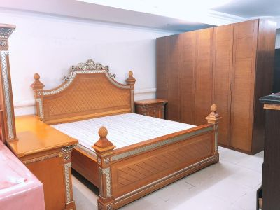 For sell king size bedroom set solid woo