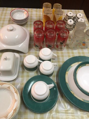 Arcopal dining plates and cups
