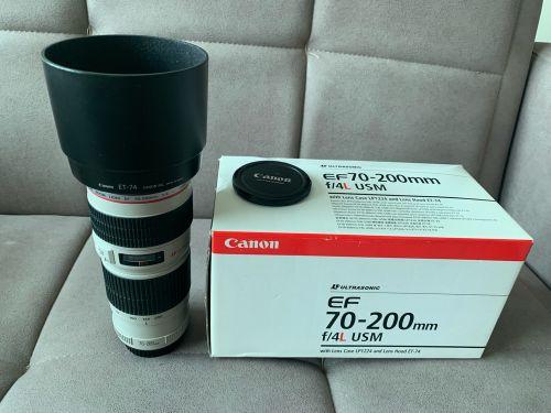 Canon lens 70-200, f4